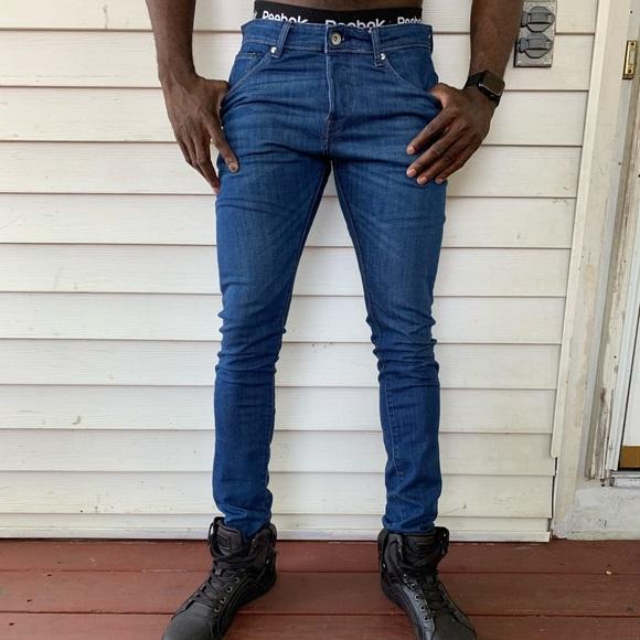Skinny slim fit men's jeans